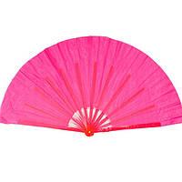 Веер ручной для танцев и спорта 40х75 см. розовый (А4205)