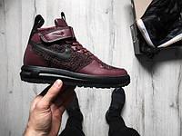 Кроссовки Nike Lunar Force 1 Flyknit Workboot Purple, Black, найк аир форс