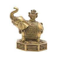 "Статуэтка ""Слон на ба-гуа"" 15х15х11 см желтая (2995)"