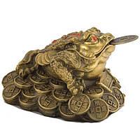 Статуэтка Трехлапая жаба 7,5х9х10 см желтая (1064)