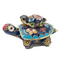 Шкатулка черепаха - техника клуазоне 4.5х8х6 см разноуветная (А8327)