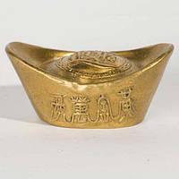 Чаша богатства 2х4,5х2,5 см желтая (8877а)