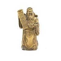 Статуэтка Гуань-ди со свитком 17х9х8 см. желтая (А7153а)