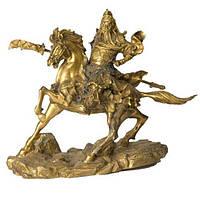 Статуэтка Гуан Ди на коне 22х25х9 см. желтый (8926)