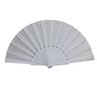 Веер ручной для танцев и спорта 23х43 см. белый (В1567)