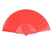 Веер ручной для танцев и спорта 23х43 см. красный (В1559)