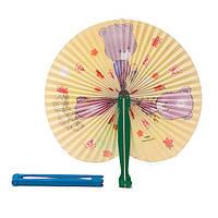 Веер ручной детский 25х20 см. разноцветный (В1160)