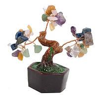 Дерево счастья с разноцветными листочками