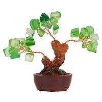 Дерево счастья с зелеными камнями