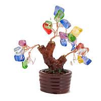 Дерево счастья с разноцветными листочками (А8180)