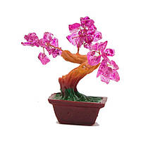 Дерево счастья с розовыми листочками