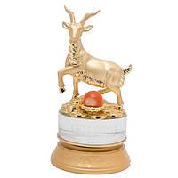 Статуэтка Коза гороскоп высота 17 см. золотистая (А8256)
