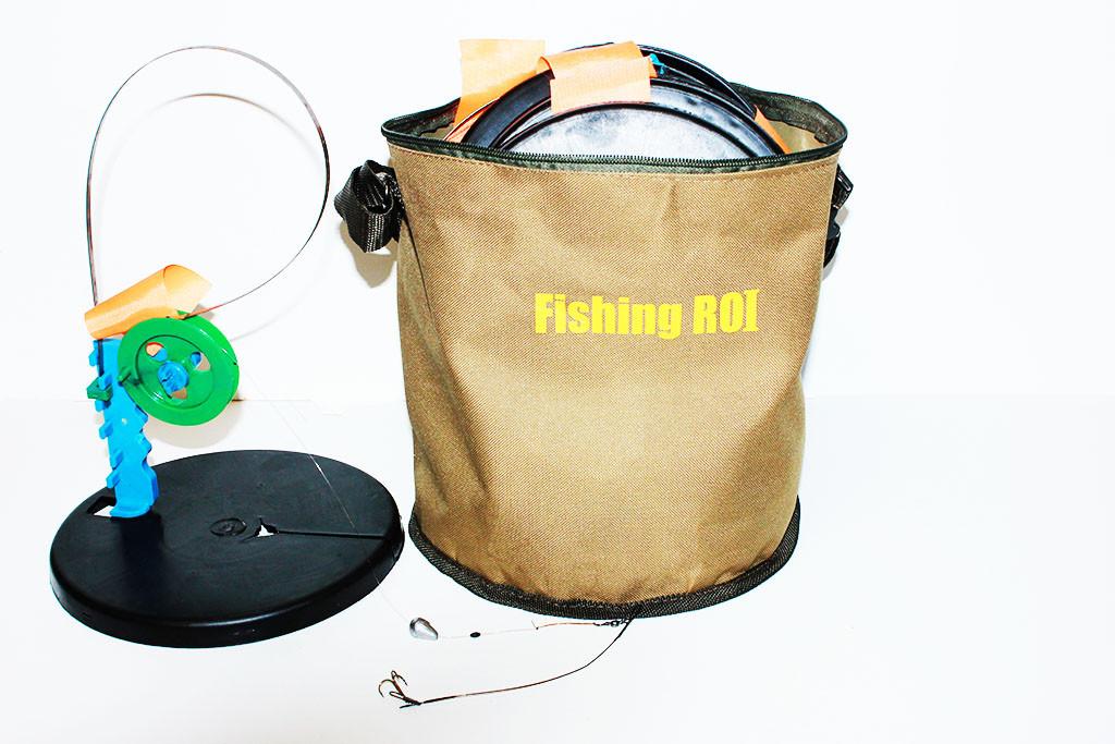 Жерлицы (оснащенные 10 шт. в сумке) Fishing ROI+подарок фонарик