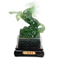 Статуэтка Лошадь устремленная вверх 29х16х12 см зеленая (А6578)