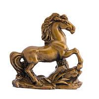 Статуэка Лошадь в движении высота 8 см коричневая (А7106)
