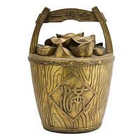 Чаша богатства со слитками 25х17х17 см желтая (В0746)