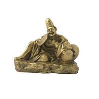 Статуэтка веселый монах Даос 8х9,5х5,5 см. желтая (4183)