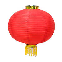 Фонарь подвесной декоративный 42х38 см красный (В1524)