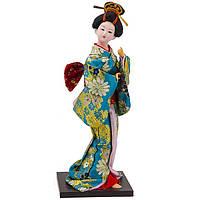 Кукла нинге японка высота 30 см бирюзовая (В4466)