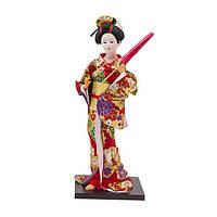 Кукла нинге японка высота 30 см красная (В4473)