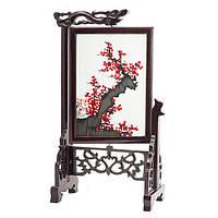 """Картина на подставке """"Сакура"""" вышивка двухсторонняя 32х19 см разноцветная (В4755)"""