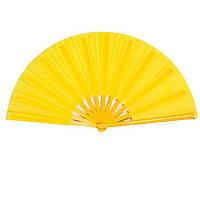 Веер ручной для танцев и спорта 33х61 см. желтый (В4789)