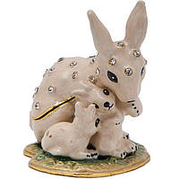 Шкатулка Кролик 5х6х4 см бежевая (В4825)