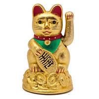 Кошка манеки неко 11 см Золотой песок (B4863)