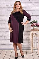 Платье 0633-3 фиолет большого размера 42-74 батал | Индивидуальный пошив