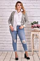Блузка-рубашка 0637-1 большого размера 42-74 батал | Индивидуальный пошив