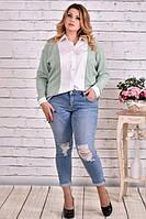 Блузка-рубашка 0637-3 большого размера 42-74 батал | Индивидуальный пошив