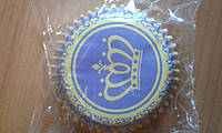 Формочки для маффинов, капкейков Корона д.5 см фиолетовые 25 шт./уп.