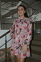 Женское платье с цветочным принтом Италия, фото 1