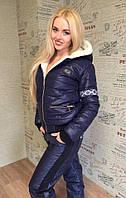 """Женский зимний костюм куртка и штаны с традиционным орнаментом """"Печка"""""""