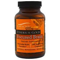Harmonic Innerprizes, Etherium Gold, средство для повышения концентрации, 240 вегетарианских капсул, HAR-01240