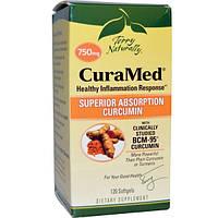 EuroPharma, Terry Naturally, Terry Naturally, CuraMed, 750 мг, 120 мягких желатиновых капсул, EUR-20292
