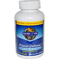 Garden of Life, Primal Defense, формула с пробиотиками ГПО, 216 капсуловидных таблеток, GOL-11294