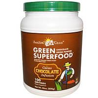 Amazing Grass, Зеленый суперпродукт, шоколадный растворимый напиток, 28 унций (800 г), AMG-00055