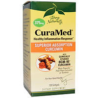 EuroPharma, Terry Naturally, Terry Natually, CuraMed, 375 мг, 120 желатиновых капсул, EUR-40202