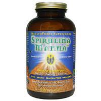 HealthForce Nutritionals, Спирулина Манна, 1500 веганских таблеток, HFC-00121