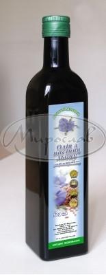 Олія льону(білого)Масло льна 500мл скло Мирослав