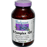 Bluebonnet Nutrition, B-Complex 100, 250 Vcaps (Discontinued Item), BLB-00419
