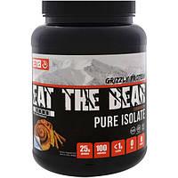 Eat the Bear, Протеин медведя-гризли, чистый изолят, булочка с корицей, 2 фунтов (908 г), GRZ-09219