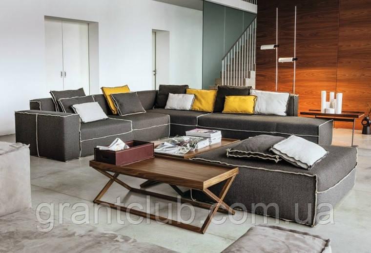 Модульный диван с контрастной строчкой XSMALL фабрика Vibieffe (Италия)