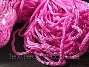Шнур для одягу поліпропіленовий колір рожевий 100 метрів