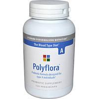 D'adamo, Полифлора, пробиотическая формула для диеты по группе крови А, 120 капсул, DAD-00023