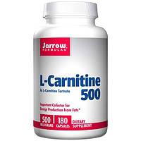 Jarrow Formulas, L-карнитин 500, 500 мг, 180 капсул, JRW-02008
