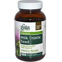 Gaia Herbs, Семена расторопши, 120 растительных фитокапсул, GAI-14580