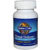 Garden of Life, Primal Defense, Формула, содержащая пробиотик HSO, 90 вегетарианских  капсул, GOL-11111