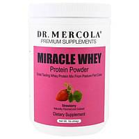 Dr. Mercola, чудесный сывороточный протеин в порошке с клубничным вкусом, 454 г, MCL-01140
